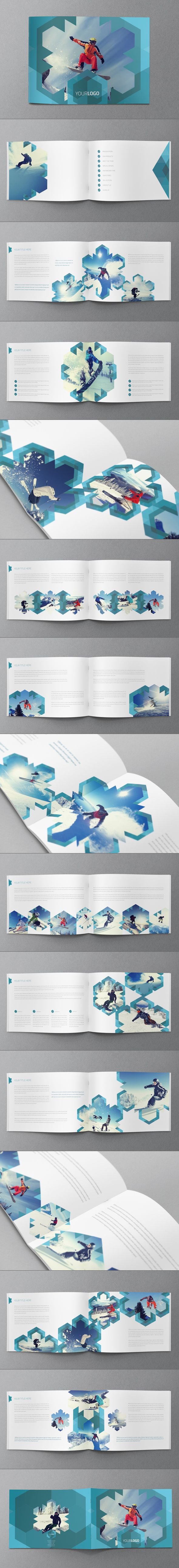 Ski/Snowboard Winter Brochure by Abra Design, via Behance