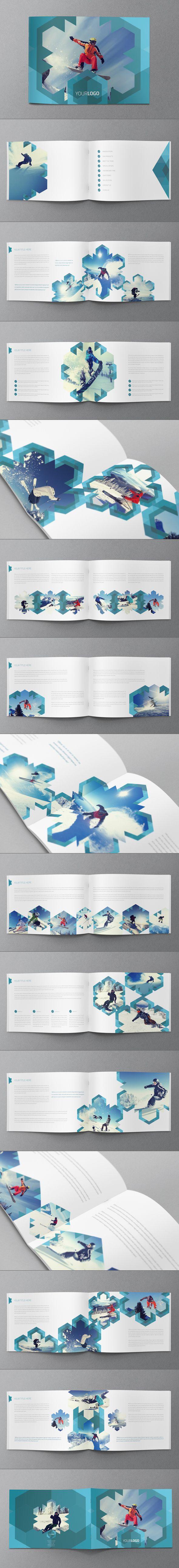 Ski/Snowboard Winter Brochure by Abra Design, via Behance