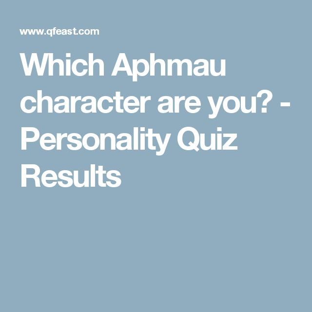 Which Aphmau character are you? - Personality Quiz Results
