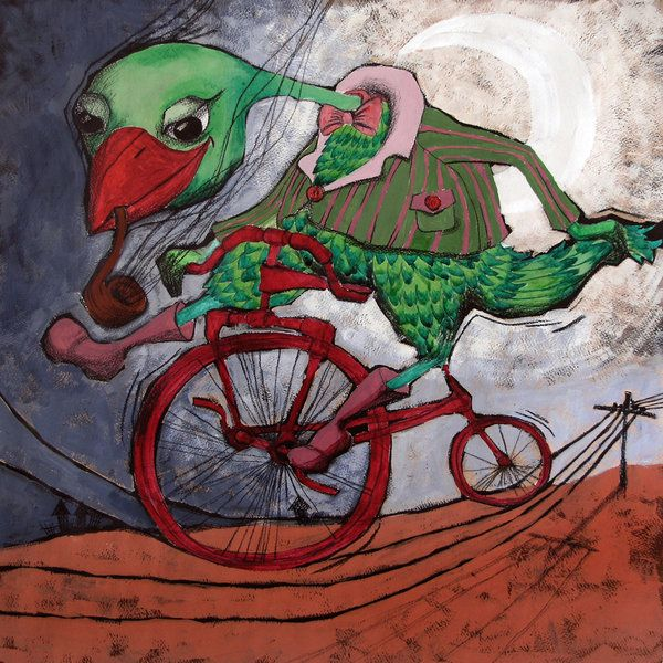 red bicycle by ~sirobnaiv on deviantART