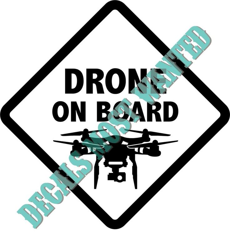 Drone on board decal sticker uav quad fpv die cut vinyl rc 5 75 x 5 75