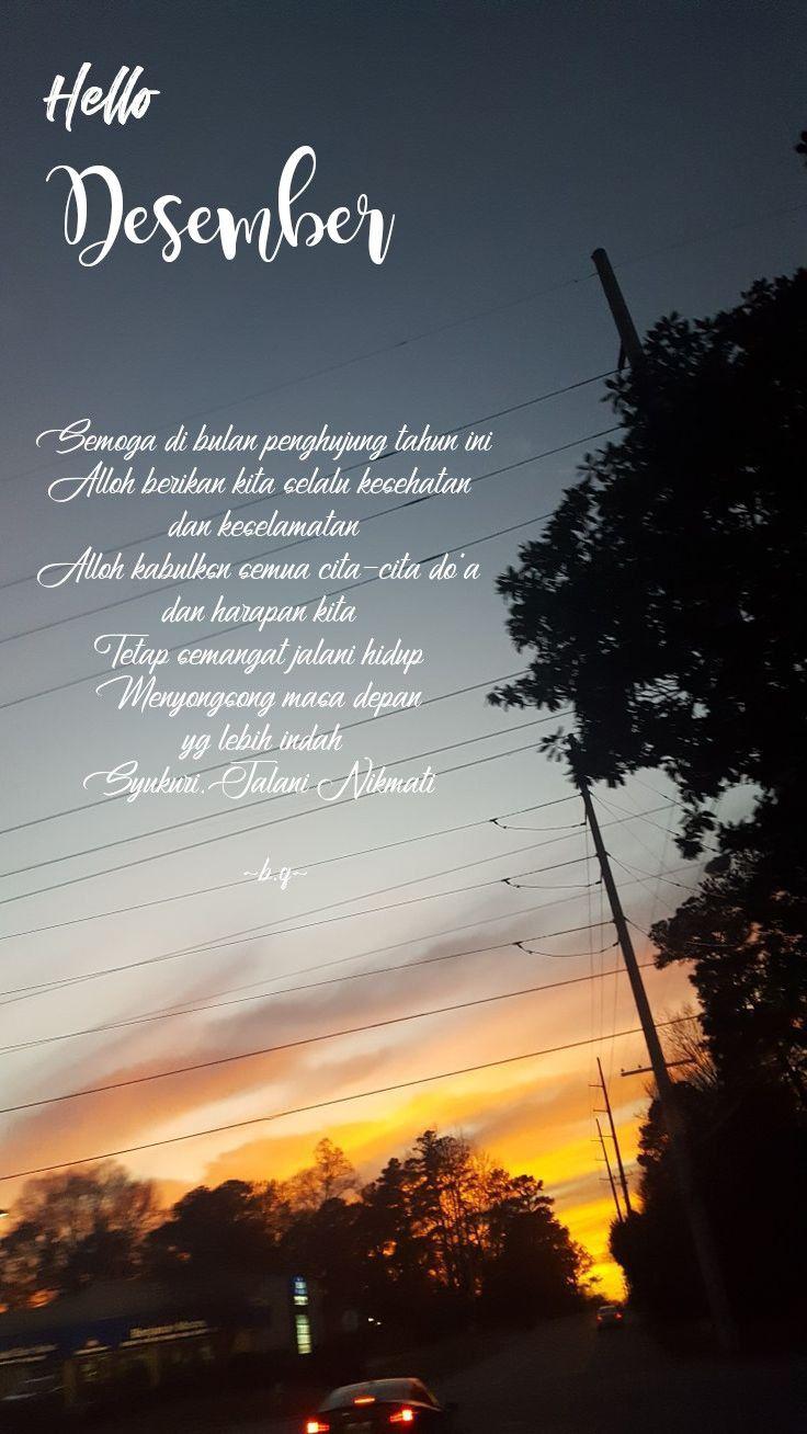 Desember December Quote Celestial Sunset