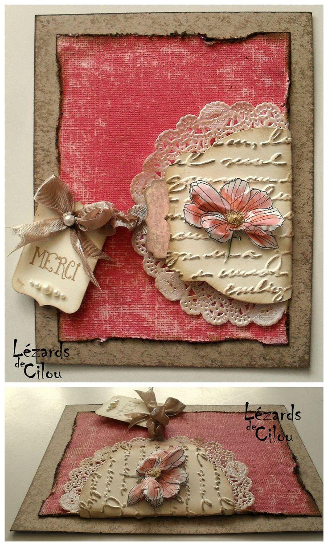 tolle Karte für Rosa-/ Vintagefans