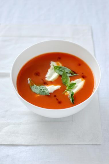 Paprika-tomatensoep http://njam.tv/recepten/paprika-tomatensoep