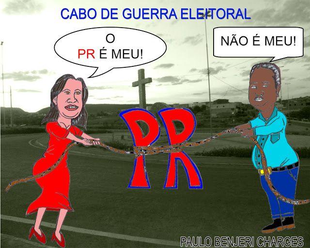 Blog Paulo Benjeri Notícias: Charge: Cabo de guerra eleitoral