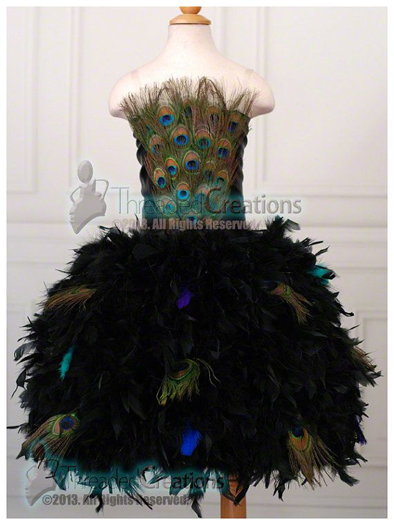 For the Love of Peacocks Feather Dress by threadedcreations, $165.00