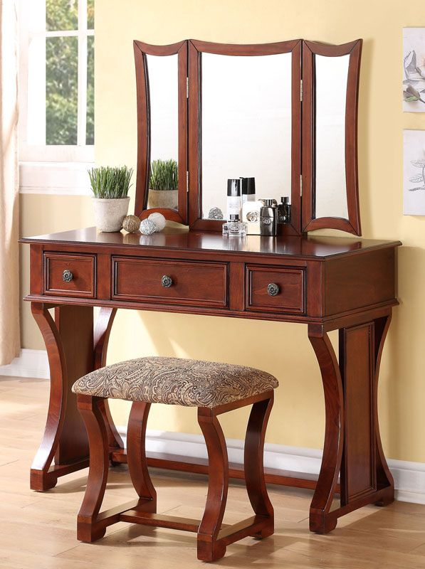 rustic makeup vanity set. Poundex Bobkona Edna Vanity Set with Stool  Cherry This beautifully designed vanity set features pine wood frame of rustic style 39 best Makeup Tables images on Pinterest Mirrors