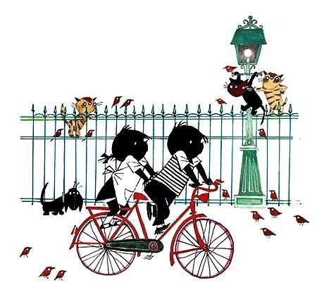 L. Jip en Janneke op de fiets