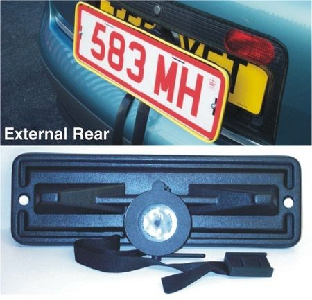 Self suction trade plate holder set  Suction activated trade plate holders, easily fitted in seconds directly onto a vehicles existing number plate using a levers activated sucker.