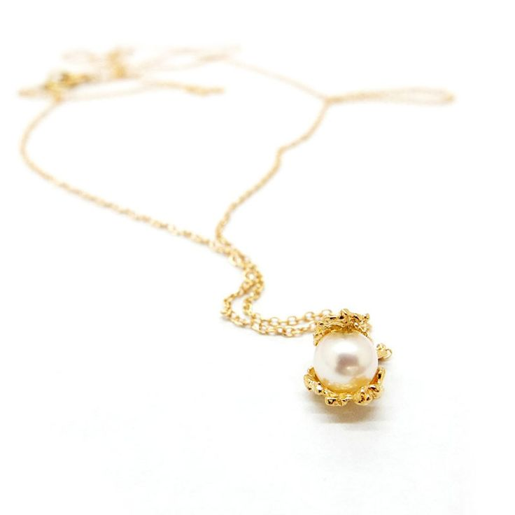 UNDER THE SEA Gold & Fresh Water Pearl Necklace