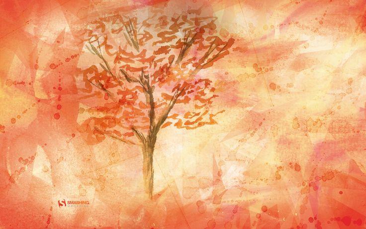 October watercolor desktop background | Desktop ...
