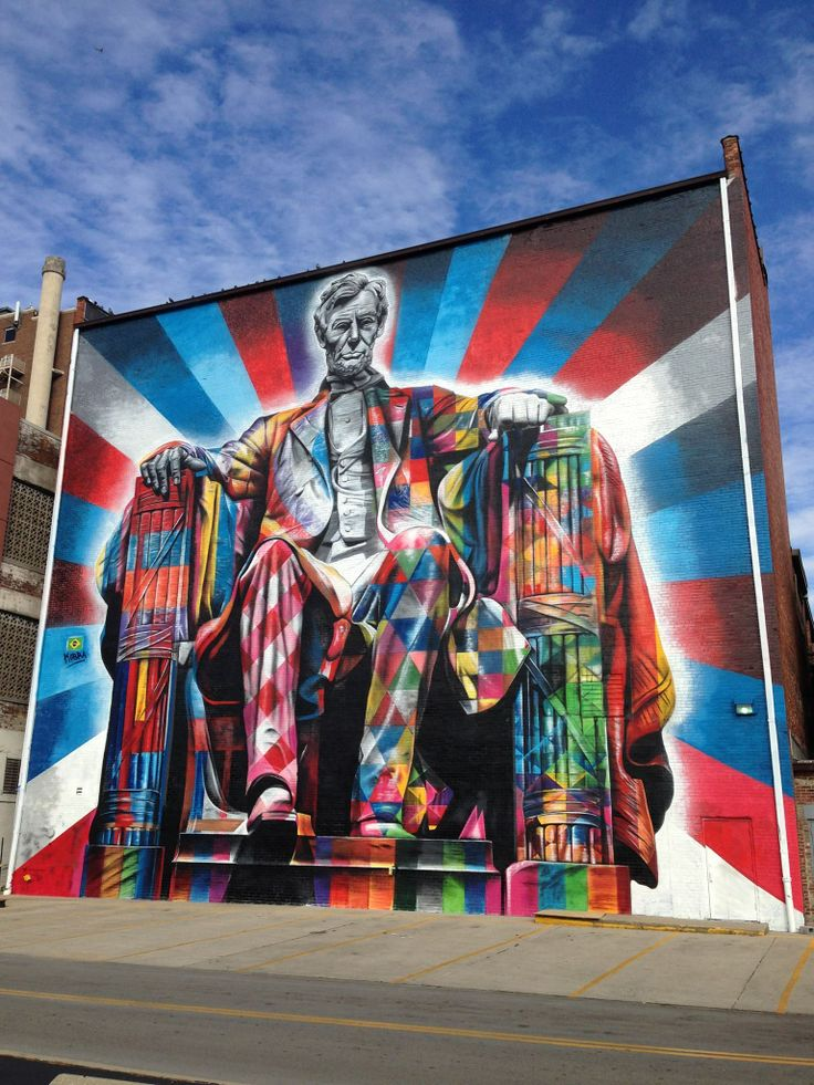 Abraham lincoln mural in downtown lexington kentucky my for 6 blocks from downtown mural