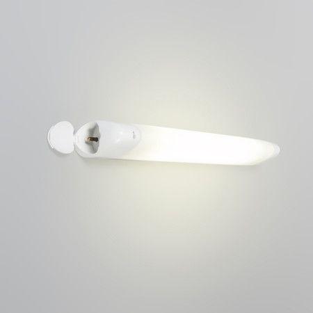 Wandleuchte Hudson-P 8W weiss Ideal in Kombination mit ihrem Badezimmerspiegel, für eine gründliche Rasur und ein perfektes Styling. Die Leuchte ist mit einem An/Aus Schalter ausgestattet.  #Lampe #Light #Wohnen #Innenbeleuchtung #Wandlampe
