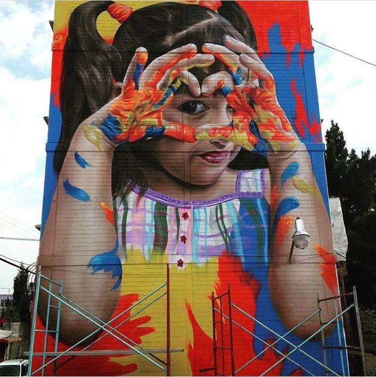 New Street Art by Koka Ogt Fx in Mexico #art #mural #graffiti #streetart