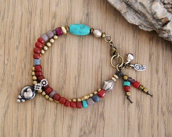 bohemian bracelet  - gypsy bracelet - boho jewelry - ethnic bracelet by Jersica