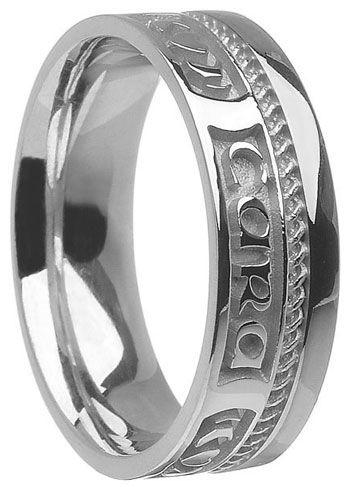 Gold 'Mo Anam Cara' Wedding Ring