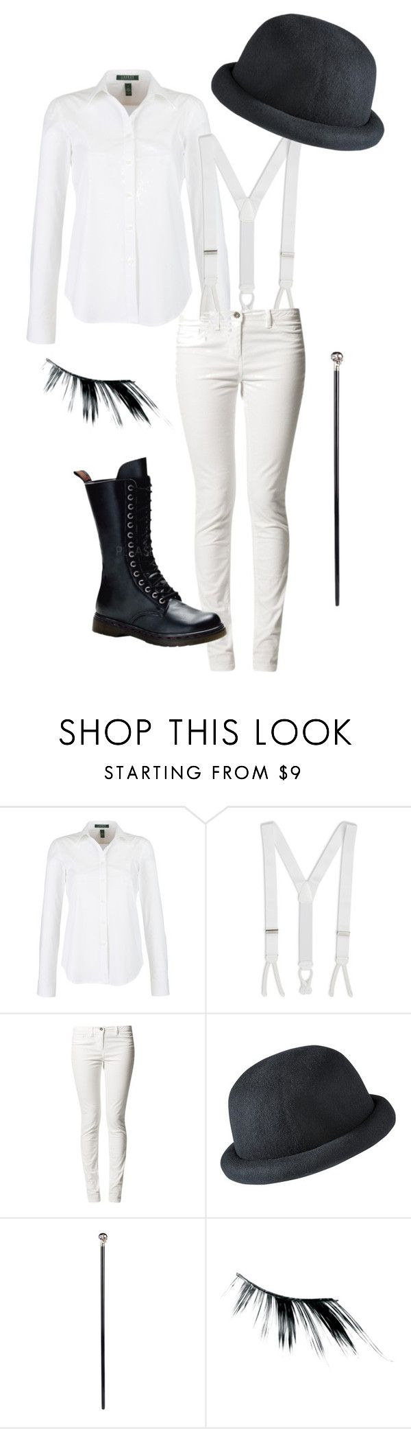 """DIY Clockwork Orange costume"" by youreinbrookelynn ❤ liked on Polyvore featuring Lauren Ralph Lauren, Brooks Brothers, Xhilaration, Alexander McQueen and Japonesque"