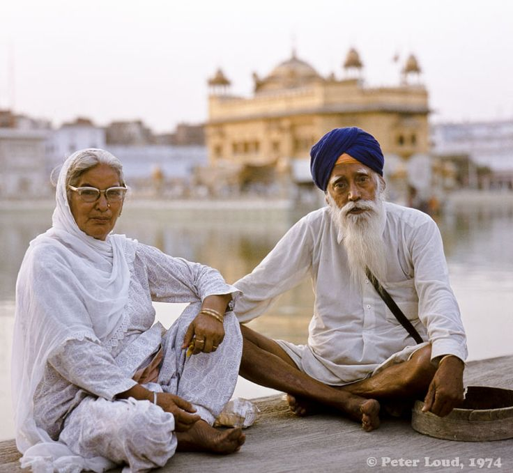 Elderly Couple at The Golden Temple, Amritsar, India