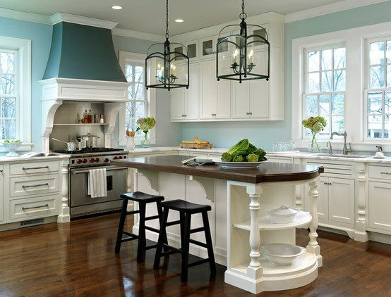 Turquoise / Seafoam , You decide!: Wall Colors, Dreams Kitchens, Lights Fixtures, Blue Wall, Kitchens Ideas, Kitchens Islands, Blue Kitchens, White Cabinets, White Kitchens