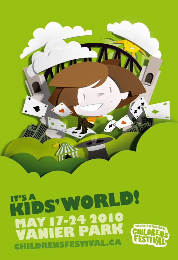 Vancouver Children Festival 2010 Illustration series for the posters for the Vancouver Children festival, a music festival in Vancouver, by Bomboland - Buscar con Google