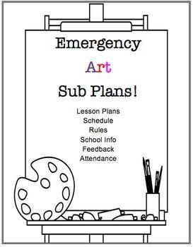25+ best ideas about Art sub plans on Pinterest | Art substitute ...