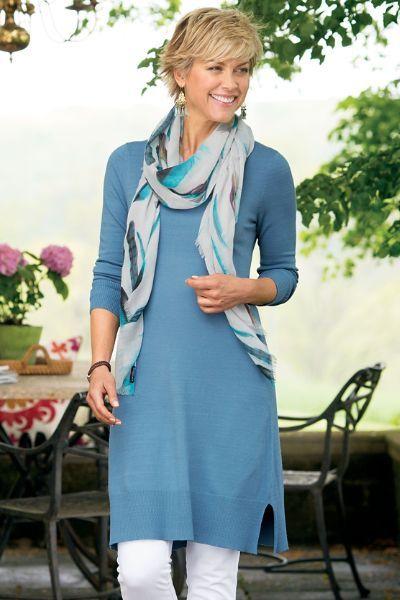 Our Novella Tunic is a soft jersey style perfect for layering with your favorite skinnies or leggings.  Toss on a stylish scarf for extra style points.