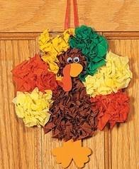 12 Tissue Paper Turkey Craft Kits Kids Craft Kit Fall Craft Thanksgiving Craft | eBay