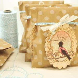 Birds and Blooms Kraft Bags