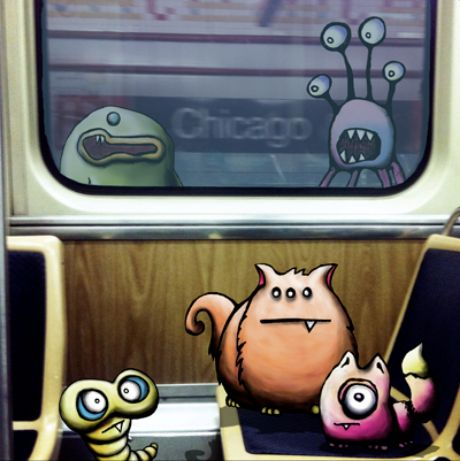 Chicago Line by kudu-lah / Awesome Critter Artwork featuring Monster like characters based in New York City