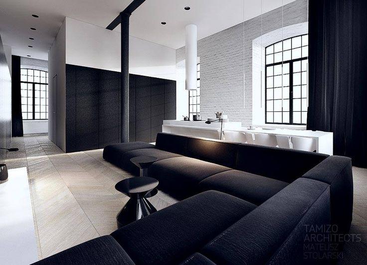 Interior Design In Black & White, Tamizo Architects