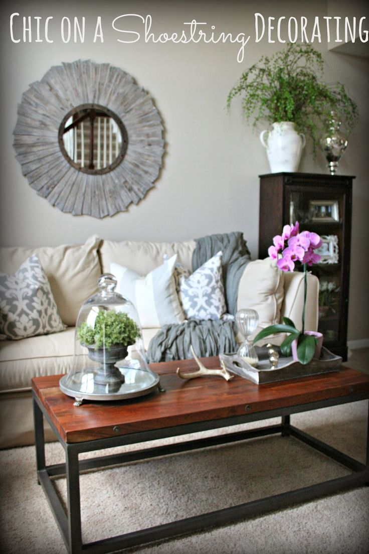 Chic On A Shoestring Decorating Living Room Makeover Budget Going Grey