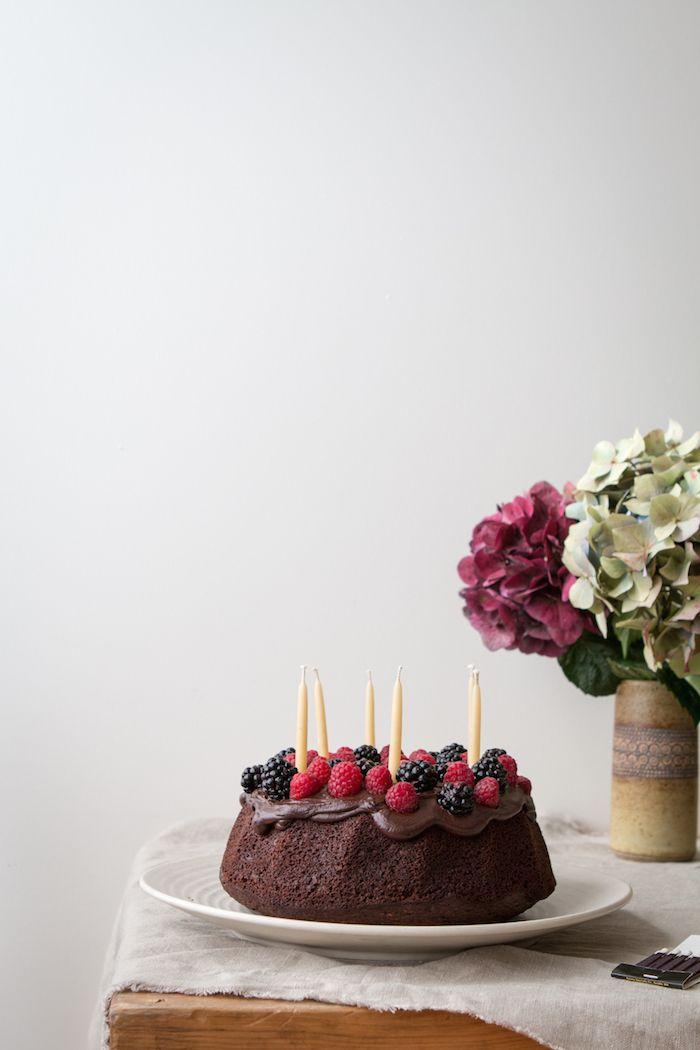CHOCOLATE BERRY and WALNUT CAKE