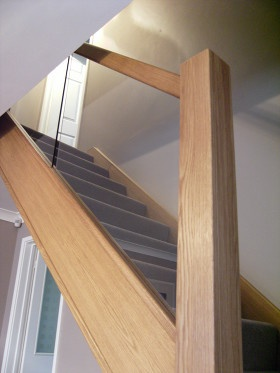 Oak and glass staircase june 12