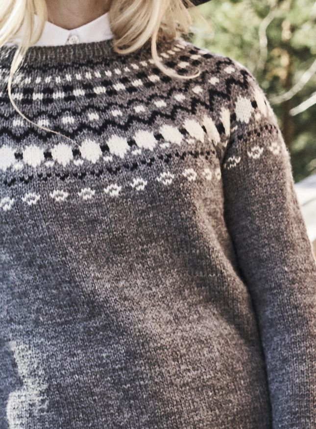 Naisen kirjoneulepusero Novita Nordic Wool | Novita knits