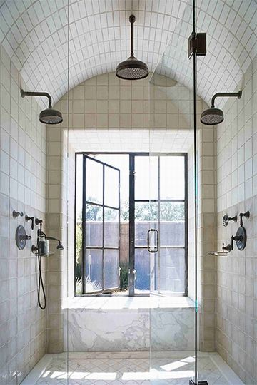 Wow. I would not get out. Ever.: Showers, Ideas, Shower Heads, Window, Shower Room, Master Bath, Dream Shower, Design