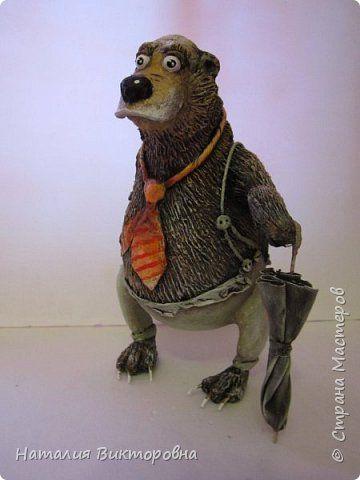 Игрушка Поделка изделие Папье-маше Оранжевый галстук Бумага фото 1
