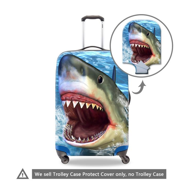 Cool Shark Luggage cover for women duffle waterproof suitcase protective cover for girls Luggage protectors animal rain cover