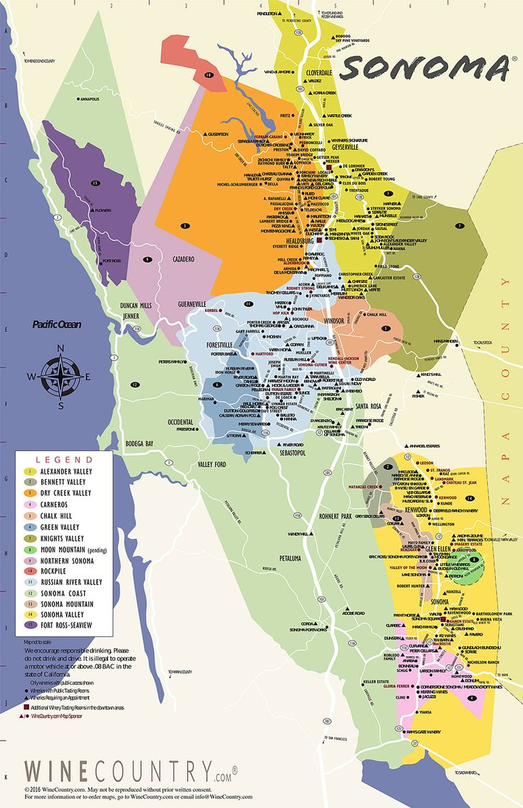 Sonoma County Winery Map - Discover all things #Sonoma County #winecountry at sonoma.com