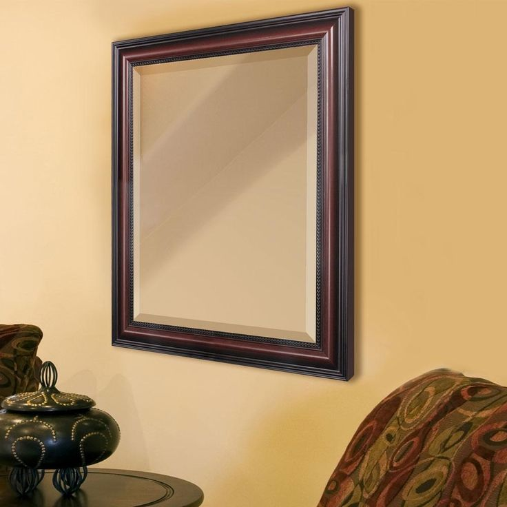 Traditional cherry framed mirror framed mirrors pinterest frame mirrors cherries and for Cherry wood framed bathroom mirrors