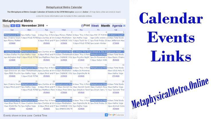 Metaphysical Metro Calendar of Events  https://calendar.google.com/calendar/embed?src=o74mqe0707s4jkjvvotm04pjrk%40group.calendar.google.com&ctz=America/Chicago