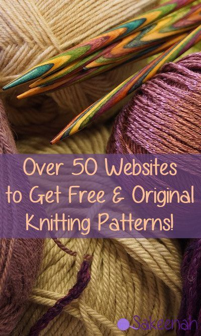 Mais de 50 sites para obter Free & Original Knitting Patterns!