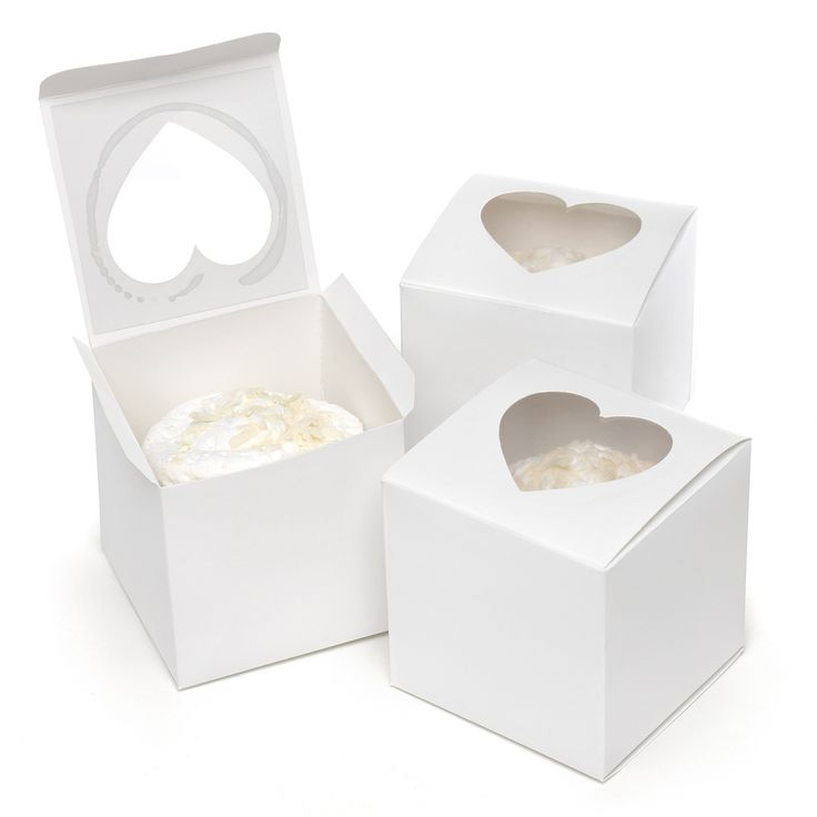 Guests can get a peek at their cupcake via peek-a-boo cupcake box's heart-shaped window... bake sale ideas, parties, birthday parties, weddings, school parties and more. Pair these cupcake boxes with
