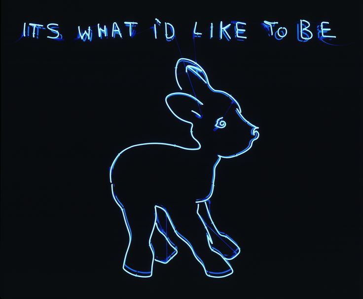 Its What I'd Like to Be. Tracey Emin. #neon #art