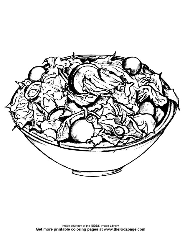 recipe book coloring pages - 102 best happy national salad month images on pinterest