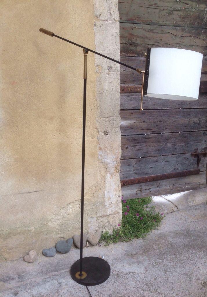 Lampadaire Circa à balancier - abat jour sur mesure par averse de lumiëre Galerie Appel d'Air - Isle-sur-la-Sorgue