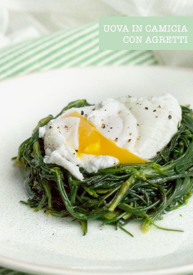 Una ricetta semplice e veloce: uova in camicia con agretti