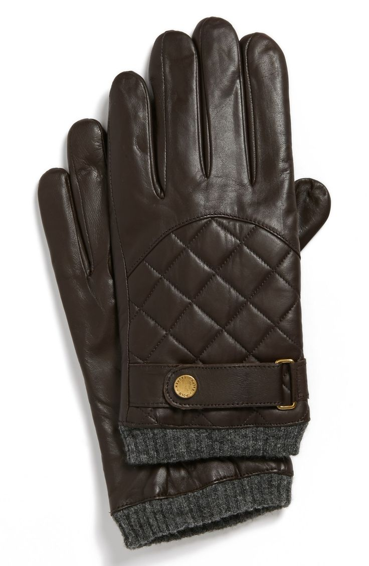 Mens leather gloves size 2x - Men S Polo Ralph Lauren Quilted Racing Gloves