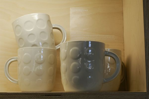 The ceramic cups inspired by the plastic version from 70s/80s. Designed by Lucie Krylová