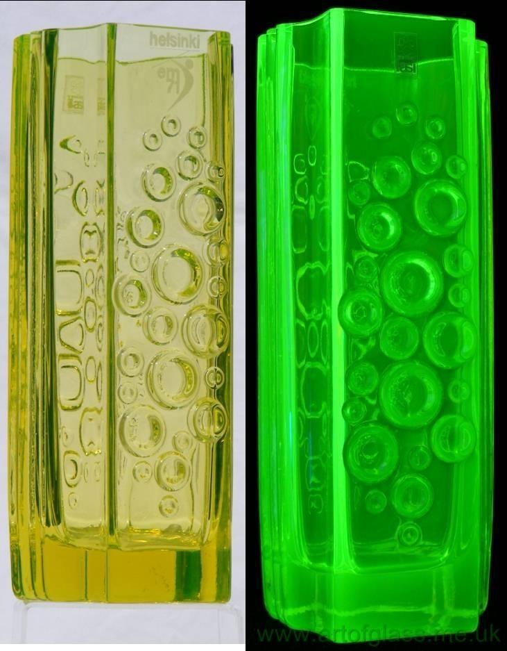 Riihimaki 'Presto' vaseline glass vase by Tamara Aladin. £150.00, via Etsy.