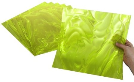 """Lime Green Moire - Made in the USA, translucent, easily cut with scissors, perfect for scoring, folding, embossing and die cutting! Stunningly brilliant optical effects! Add instant pizzazz to craft projects, seasonal accents, party decorations, scrapbooks, greeting cards, jewelry, furniture, frames, gifts, favors, accessories, art and DIY home decor projects. To instantly add """"POP"""" and """"WOW"""" to your projects, just add Rowlux!"""